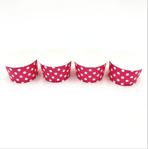 Pink Polka dots Themed Ice Cream / Soup Cups