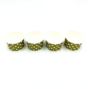 Olive Green Polka dots Themed Ice Cream / Soup Cups