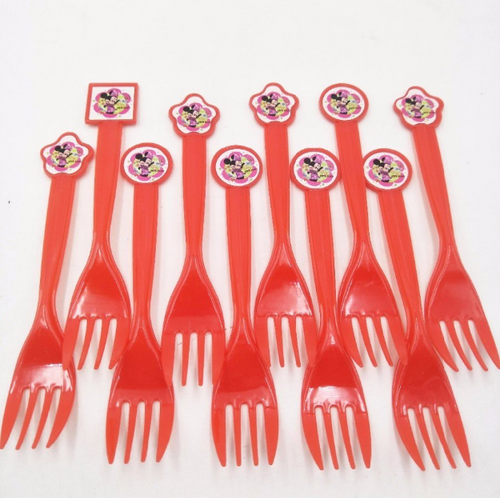 Minnie Mouse Theme Kiddie Party Plastic Forks
