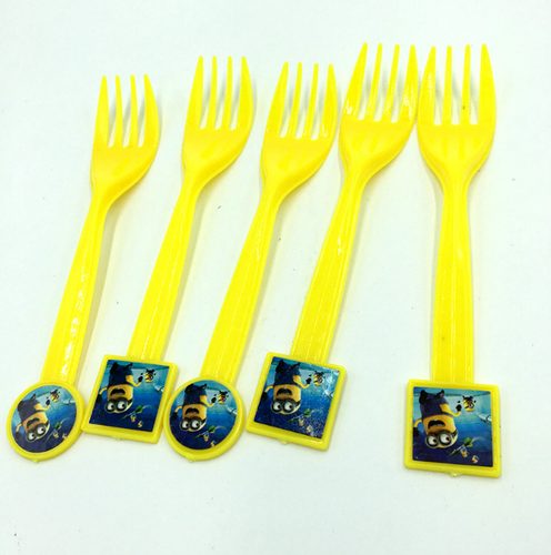 Minions Theme Kiddie Party Plastic Forks