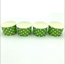 Load image into Gallery viewer, Green Polka dots Themed Ice Cream / Soup Cups