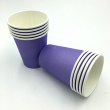 Load image into Gallery viewer, Plain Purple Colored Party Cups