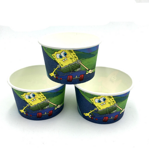 10 PCS. Spongebob Theme Disposable Ice Cream/Soup Cups