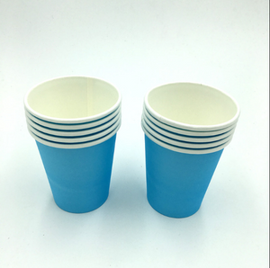 Plain Sky Blue Colored Party Cups