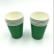 Load image into Gallery viewer, Plain Green  Colored Party Cups