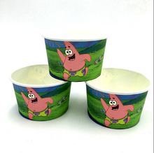 Load image into Gallery viewer, 10 PCS. Spongebob Theme Disposable Ice Cream/Soup Cups