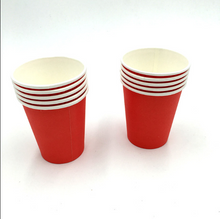 Load image into Gallery viewer, Plain Red Colored Party Cups