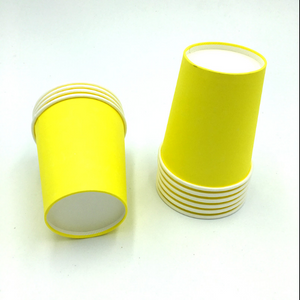 Plain yellow Colored Party Cups