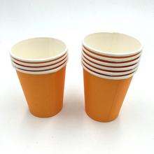 Load image into Gallery viewer, Plain Orange Colored Party Cups