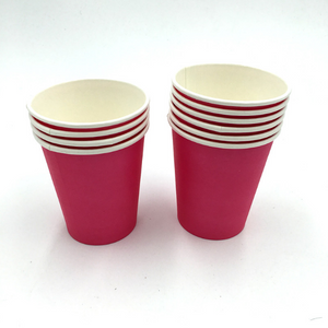 Plain Maroon Colored Party Cups