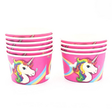 Load image into Gallery viewer, Pony Unicorn Themed Pink Disposable Ice Cream Party Soup/Cups