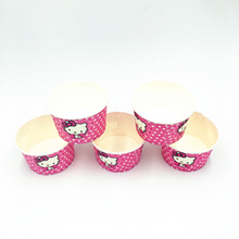 Load image into Gallery viewer, Hello Kitty Polka Dots Theme Disposable Ice Cream/Soup Cups