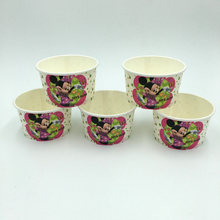 Load image into Gallery viewer, Minnie Mouse Theme Disposable Ice Cream/Soup Cups For Birthday Celebrations