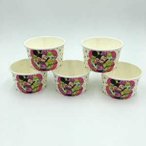 Minnie Mouse Theme Disposable Ice Cream/Soup Cups For Birthday Celebrations