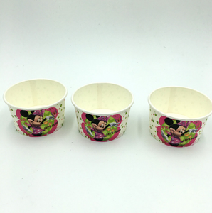 10 PCS. Minnie Mouse Theme Disposable Ice Cream/Soup Cups For Birthday Celebrations