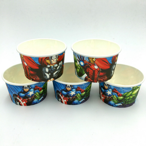 The Avengers Themed Disposable Ice Cream Party Soup/Cups