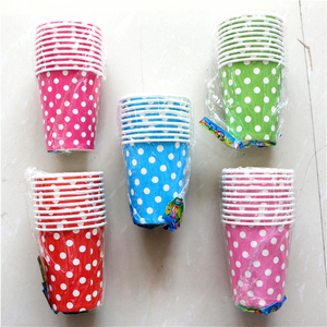 Five Colorful Polka Dots Disposable Party Cups