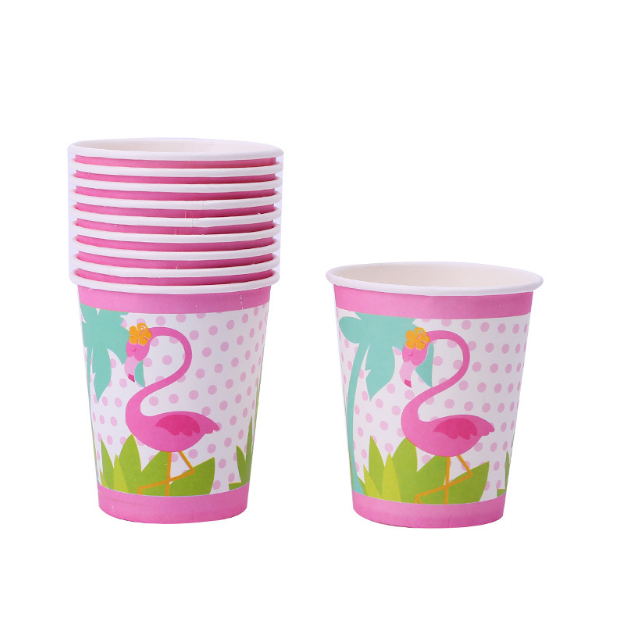 Pink Flamingo Themed Party Cups For Party Celebrations
