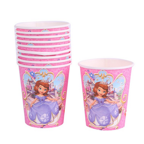 Sofia The First Themed Pink Party Cups