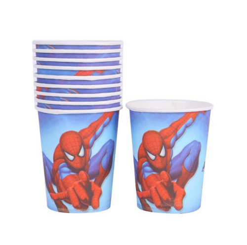 Spider Man Themed Blue Birthday Party Cups