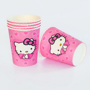 Hello Kitty Themed Pink Party Cups For Party Celebrations