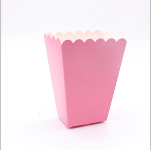 6 PCS. Plain Pattern Popcorn Box