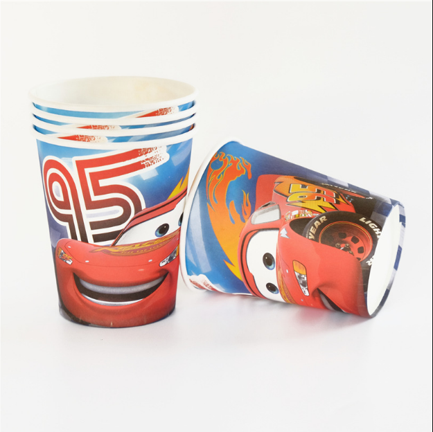 Cars Lightning McQueen Theme Party Cups