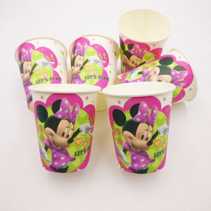 Minnie Mouse Themed Pink Party Cups