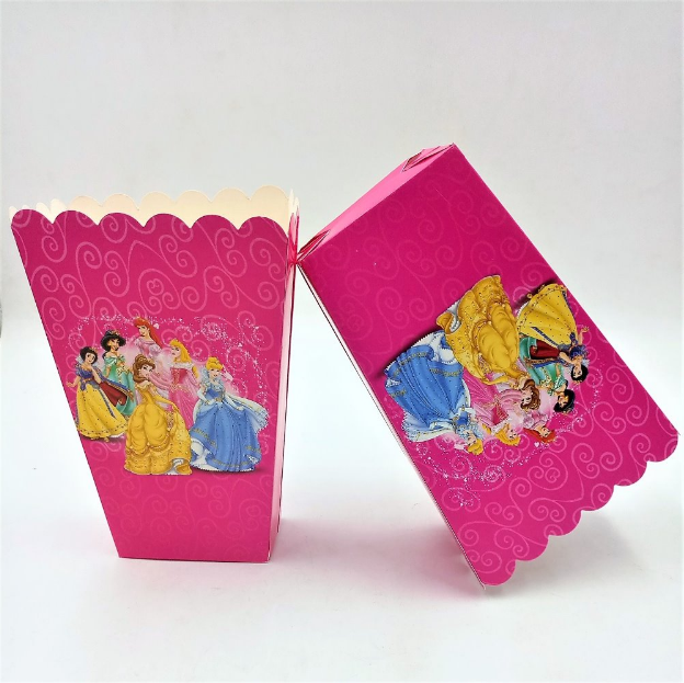 Disney Princess Featured Pink Party Popcorn Box