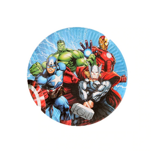 The Avengers Themed Blue Party Paper Plates