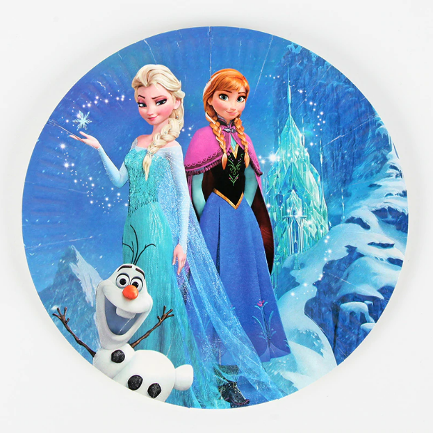 Frozen Themed Blue Paper Plate