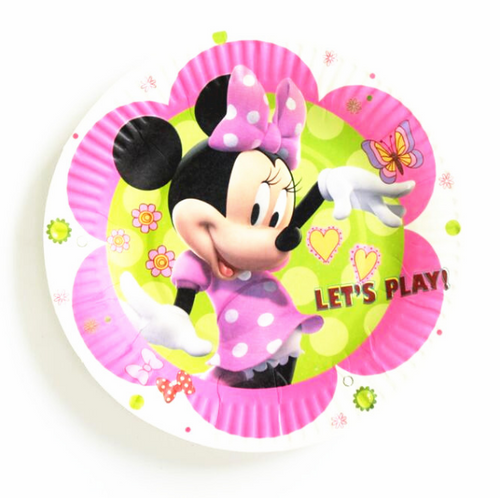 Minnie Mouse Themed Pink Paper Plate Great For Birthday Parties