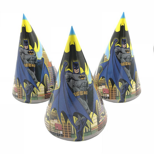 Batman Themed Kiddie Party Hats
