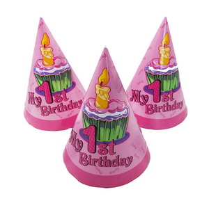 Happy Birthday Pink Theme Party Hats