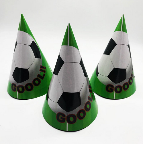 Soccer Cartoon Theme Kiddie Party Hats