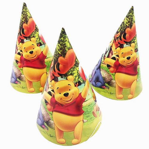 Winnie the Pooh Theme Kiddie Party Hats