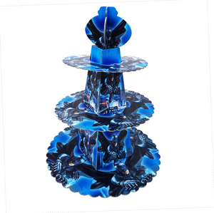 Cool Blue Batman Themed Cupcake Party Stand