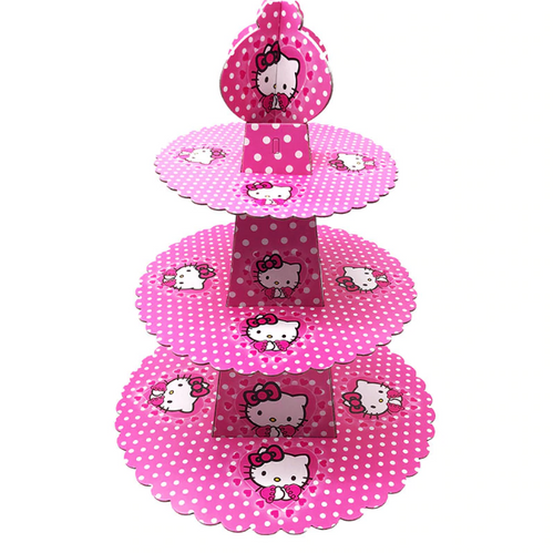 Cute Hello Kitty Themed Pink Colored Cupcake Party Stand