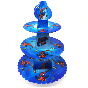Spiderman Themed Blue Colored Cupcake Party Stand