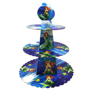 Little Mermaid Themed Blue Colored Cupcake Party Stand