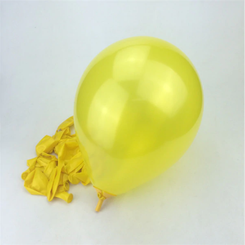 Yellow Latex Helium Balloons