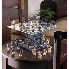 Load image into Gallery viewer, Black Tower Dragon Chess Set