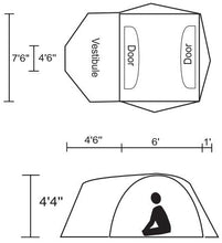 Load image into Gallery viewer, Chinook Whirlwind 3-Person Tent with Fiberglass Poles