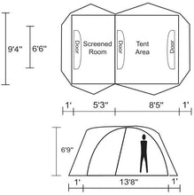 Load image into Gallery viewer, Chinook Twin Peaks 6 Person (Plus) Tent with Fiberglass Poles