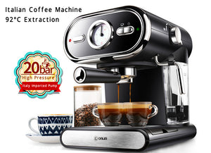 Espresso Coffee Machine (Italian) Semi-Automatic 20 Bar Full Temperature Control Milk Frother Cappuccino