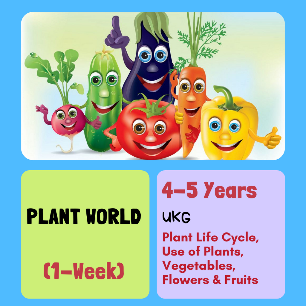 Learn about the PLANT WORLD!  (1-Week)