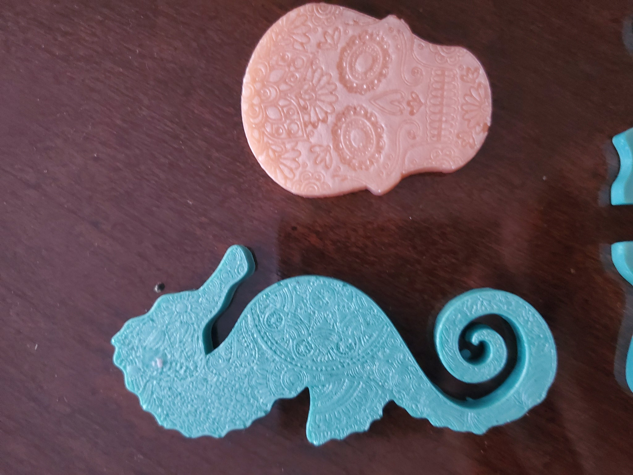 Handmade 8 piece Cotton Candy Swirl Coasters, Bookmarks, Decoration Set