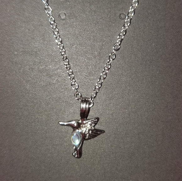 Dainty Hummingbird Charm Necklace