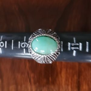 Aqua Stone Statement Ring Sz 9.75