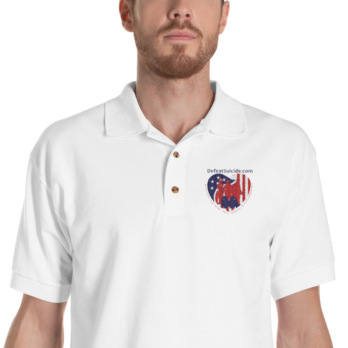 DefeatSuicide.com Gildan 3800 Embroidered Polo Shirt